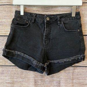 Zara Trafaluc Denim Wear Shorts w/ Raw Hem - Sz 4